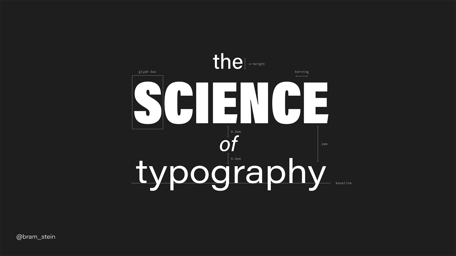 The Science of Typography opening slide