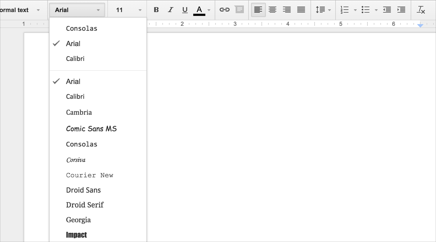 how to change font color on google docs