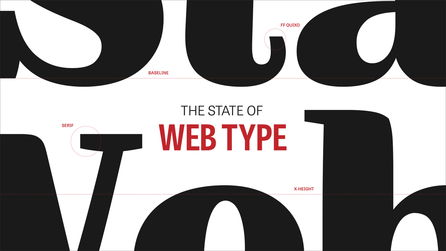 The State of Web Type title slide