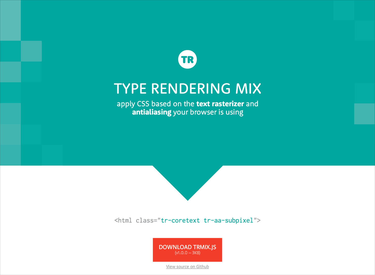 Type Rendering Mix website